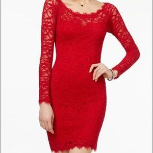 Red Lace Sheath Dress. Used once. Sz M.